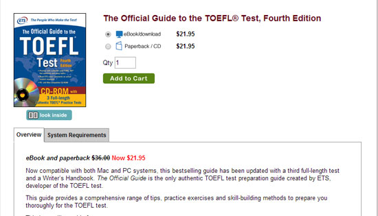 托福复习资料-Official Guide to the TOEFL® Test第四版