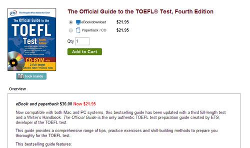 托福复习资料-TOEFL iBT® 官方全真模拟试题考试(附音频)